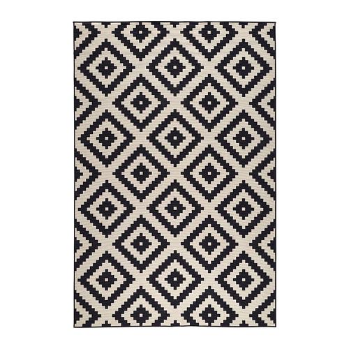 black and white rug lappljung ruta rug, low pile - 6 u0027 7  OJOCRHY