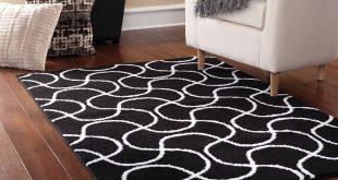 black and white rug mainstays drizzle area rug, black/white - walmart.com XTXYFSM