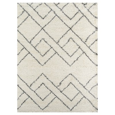 black and white rug shag accent rugs ... SEGJSMA