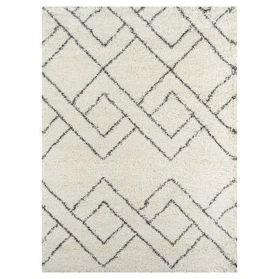 black and white rug shag accent rugs ... SEGJSMA