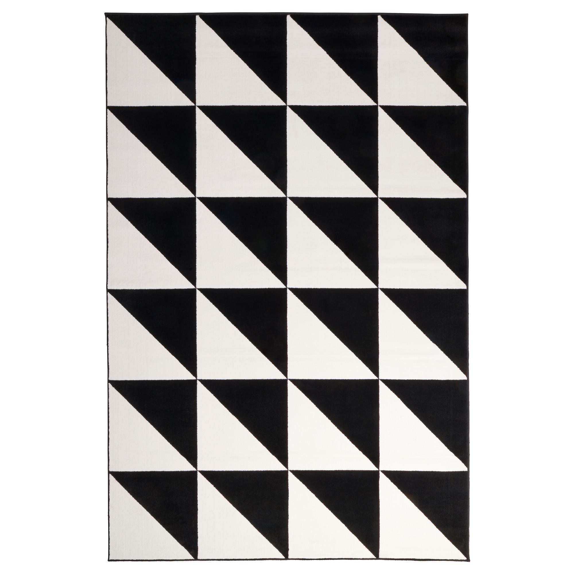 black and white rug sillerup rug, low pile, black/white length: 9 u0027 10  WCREBXJ
