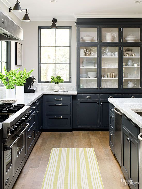 black kitchen cabinets country kitchen ideas. dark kitchen cabinetsblack ... NLBNUFU