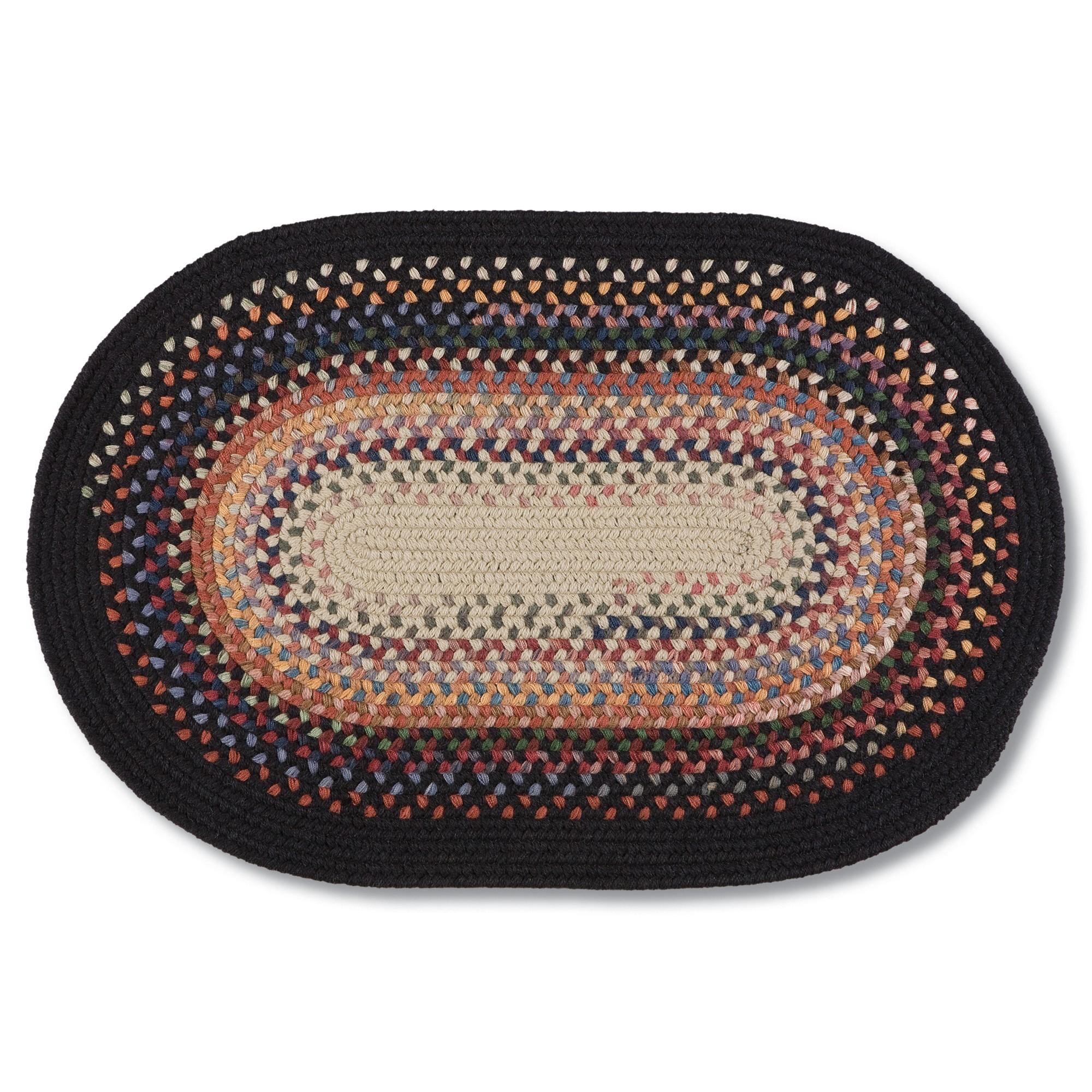 braided rugs black YQQITXH