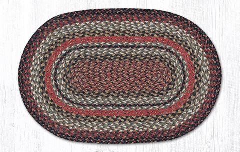 braided rugs c 9-90 terrocotta braided rug - VTJHTFR