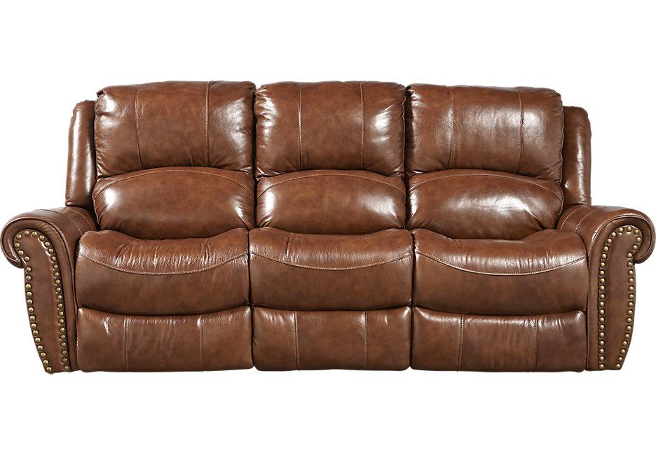 brown leather sofa abruzzo brown leather reclining sofa - leather sofas (brown) RKIFGQL