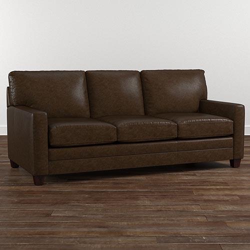 brown leather sofa american casual ladson sofa QZRQQXA