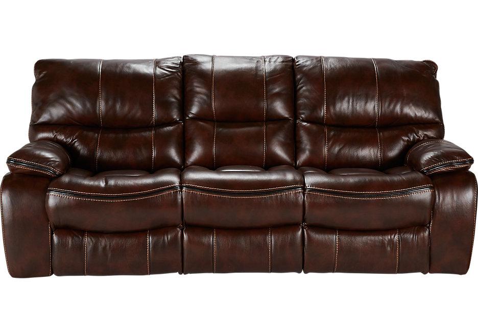 brown leather sofa cindy crawford home gianna brown leather power reclining sofa - leather  sofas RNVNKGK