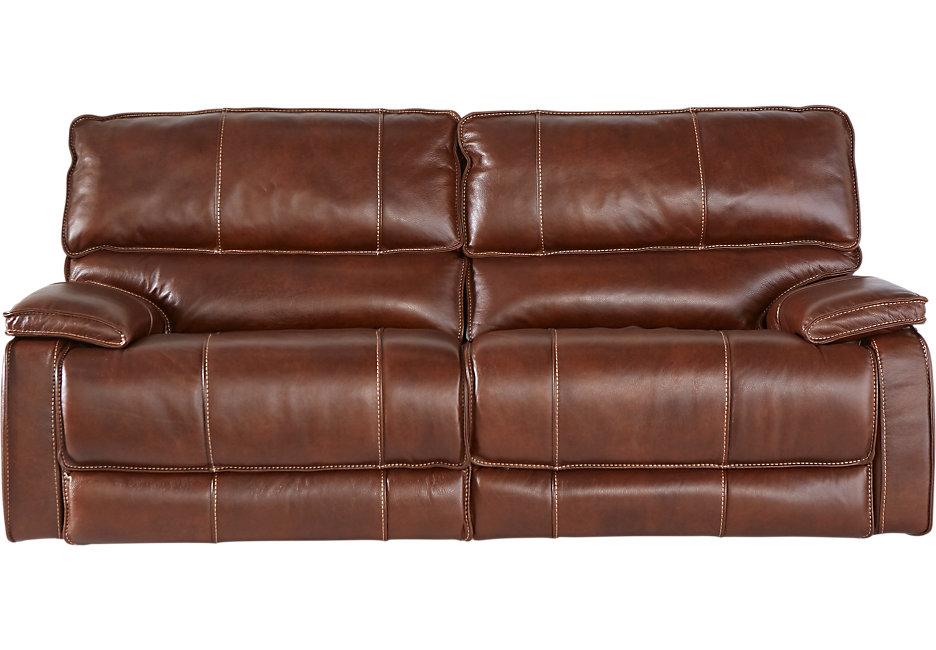 brown leather sofa cindy crawford home san michele brown leather power reclining sofa KVDGMYU
