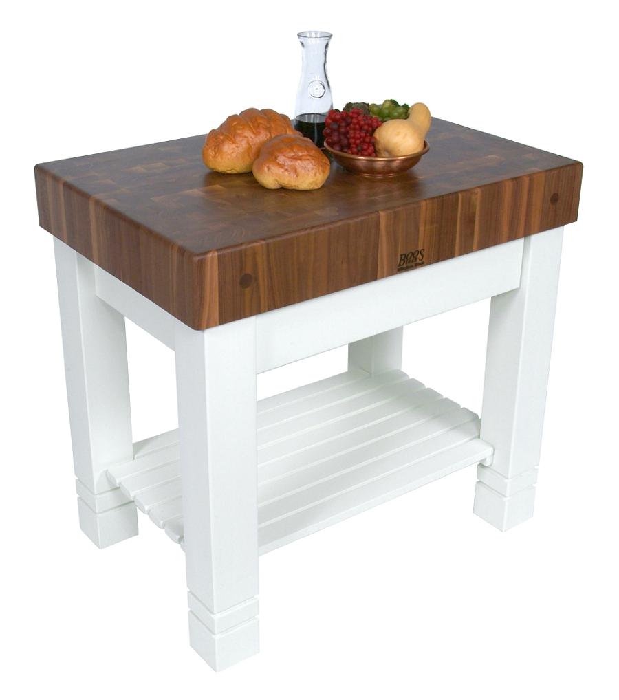 butcher block table boos walnut homestead butcher block, alabaster base - 36 KMVQRGY