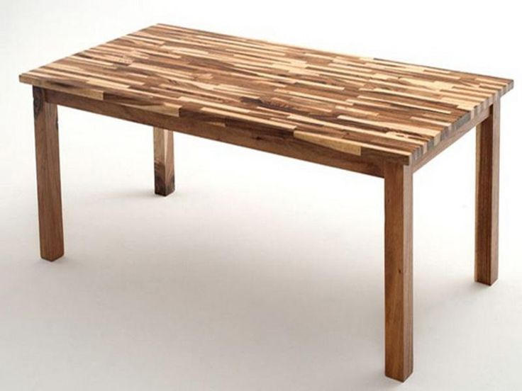 Features of butcher block table