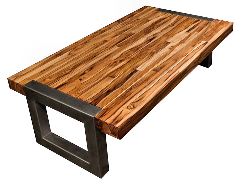 butcher block table gorgeous coffee table! would look great in my living room. RLXAOGN