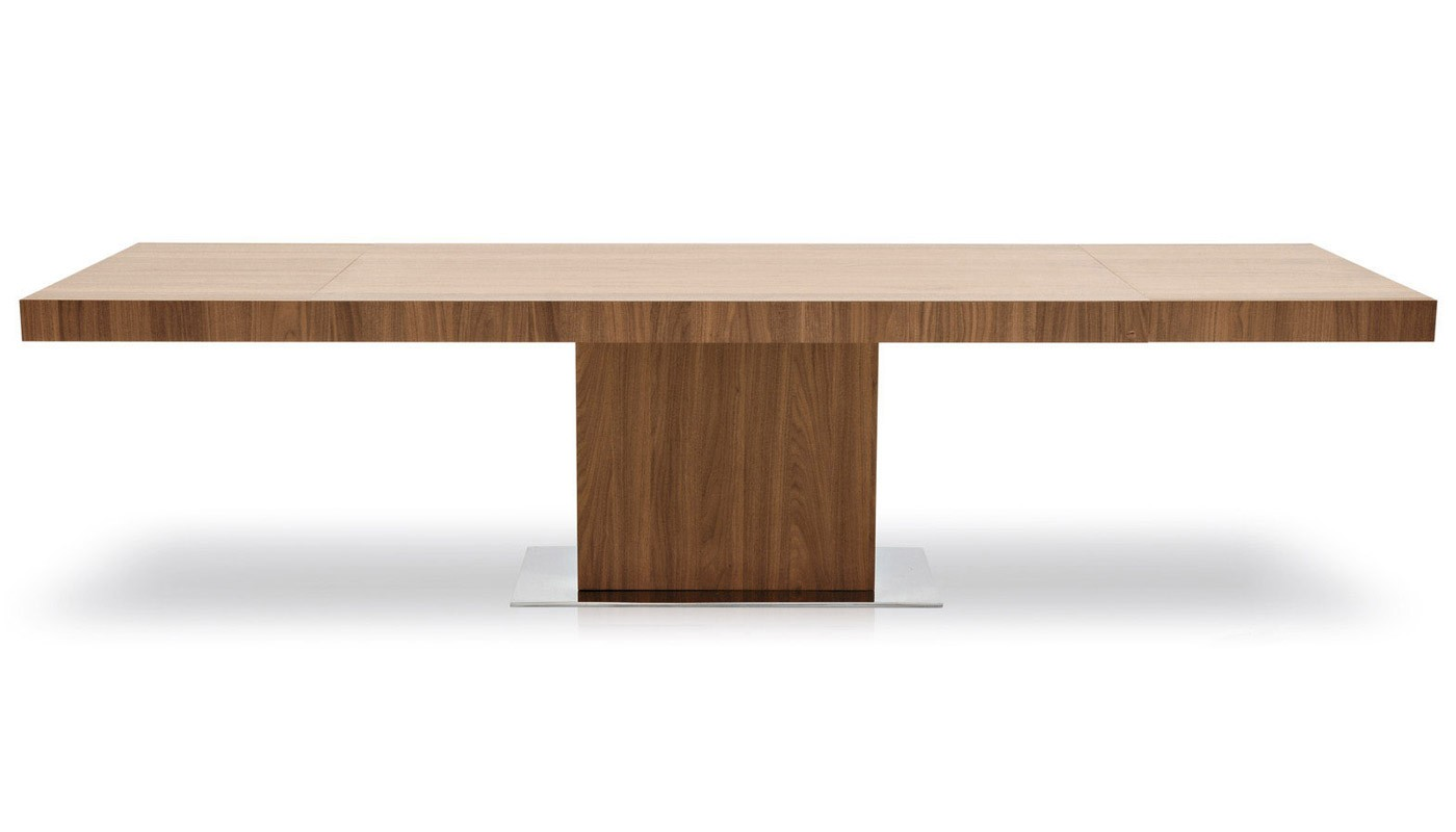 calligaris park extending dining table in walnut POIZVLU