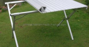 camping table folding aluminum portable bench roll up picnic beach table.  http:// LWIICRS