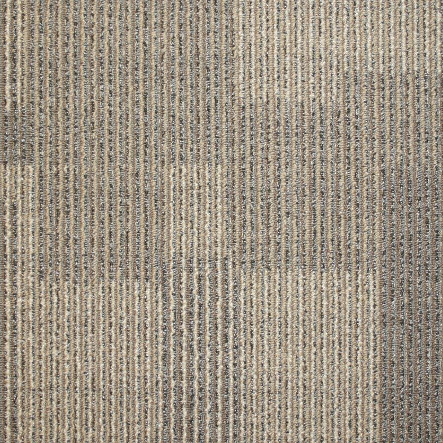 carpet tiles kraus 20-pack 19.7-in x 19.7-in sandy shore textured glue- RFOOZLN