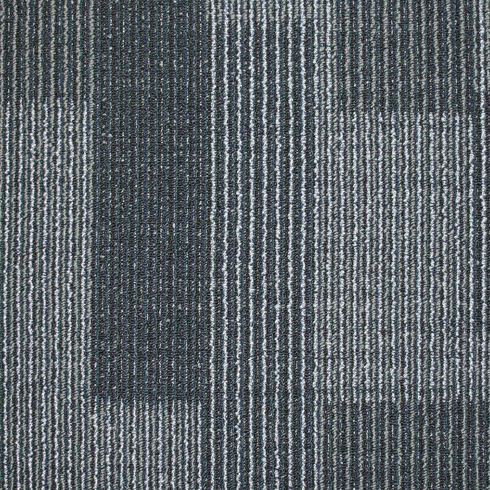 carpet tiles rockefeller midnight blue loop 19.7 in. x 19.7 in. carpet tile (20 tiles YGQTPVU