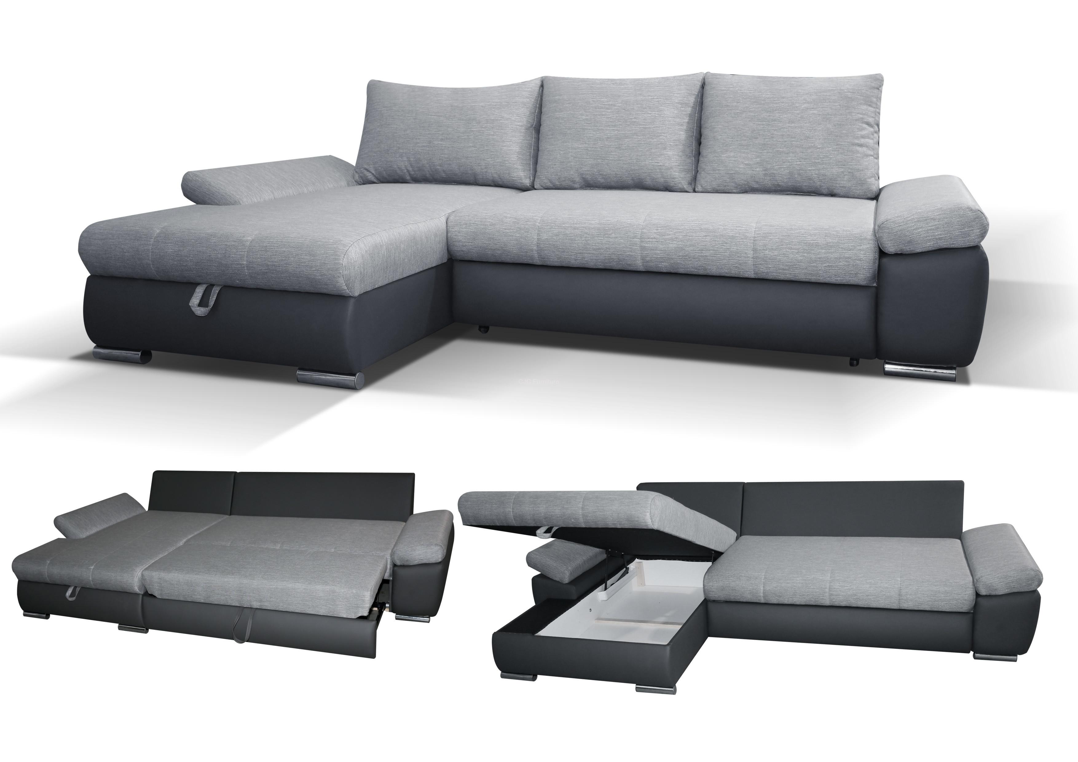 caserto corner sofa bed - left handed IEZAPWX