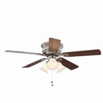 ceiling fans with lights clarkston 44 in. brushed nickel ceiling fan with light kit ZSAFVIO