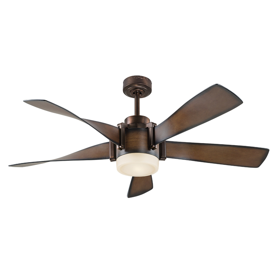 ceiling fans with lights kichler 52-in mediterranean walnut with bronze accents downrod mount indoor ceiling  fan CEAHWOW