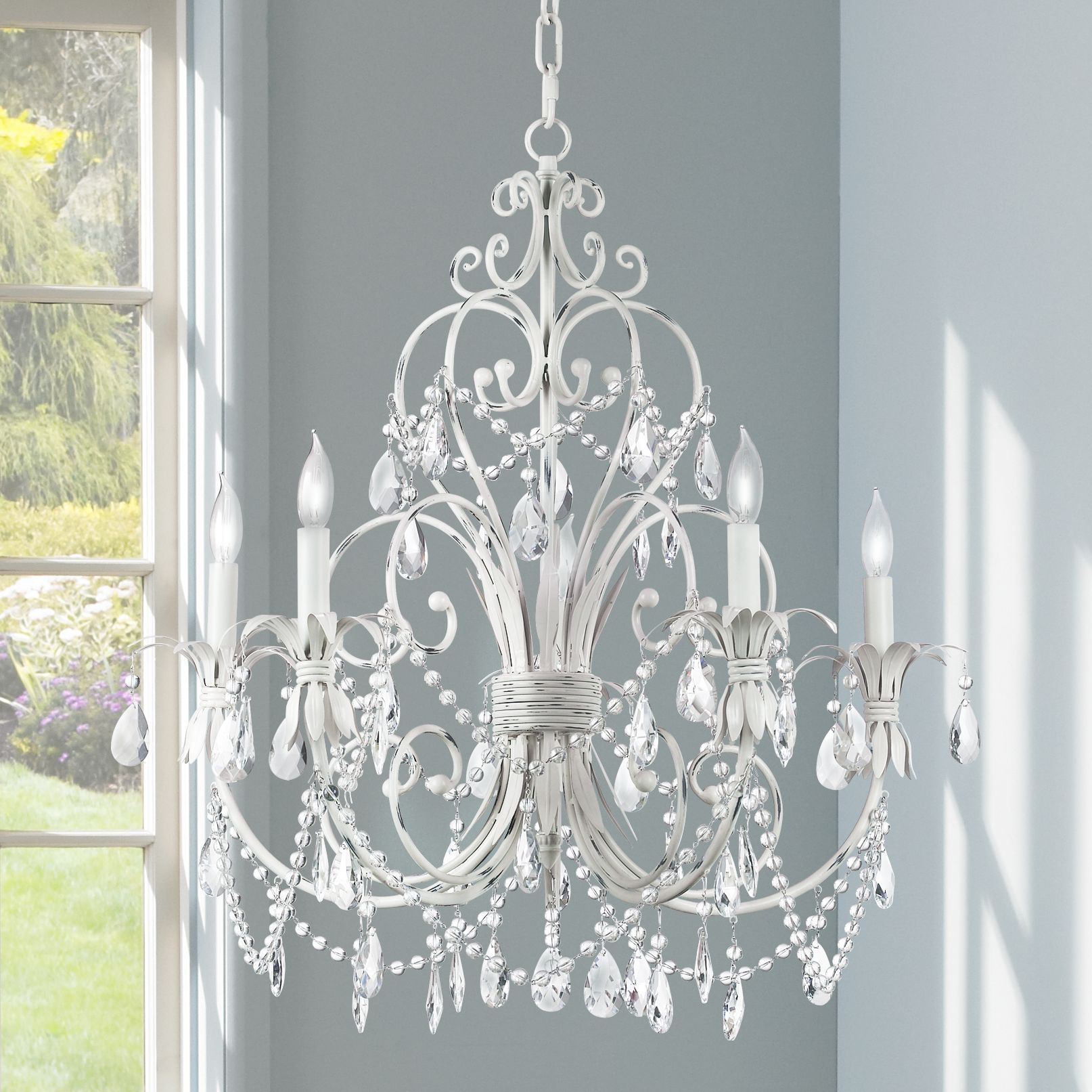 chandelier lighting chateau vieux collection antique white five light chandelier VZMZRXL