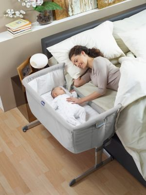 chicco next 2 me bedside crib - silver HEFHBJV