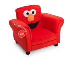 childrens chairs delta childrenu0027s products sesame street elmo giggle upholstered chair with  sound VZDCSJE