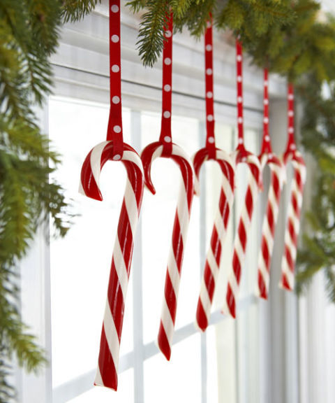 christmas decorating ideas dangle candy canes. HWHZQMU