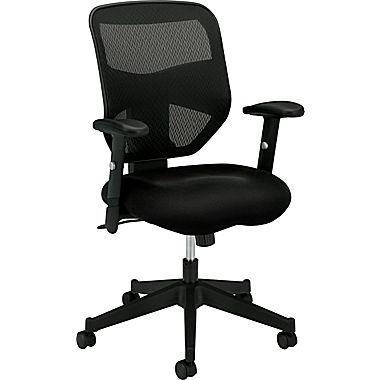 computer chair basyx by hon mesh computer and desk office chair, adjustable arms, black IXFQZQD