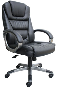 computer chair boss black leatherplus executive chair PRBNGSK