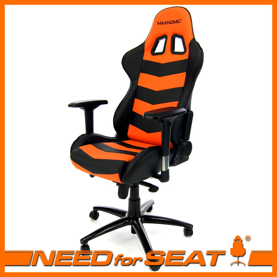 computer chair maxnomic™ thunderbolt orange VRHZINE