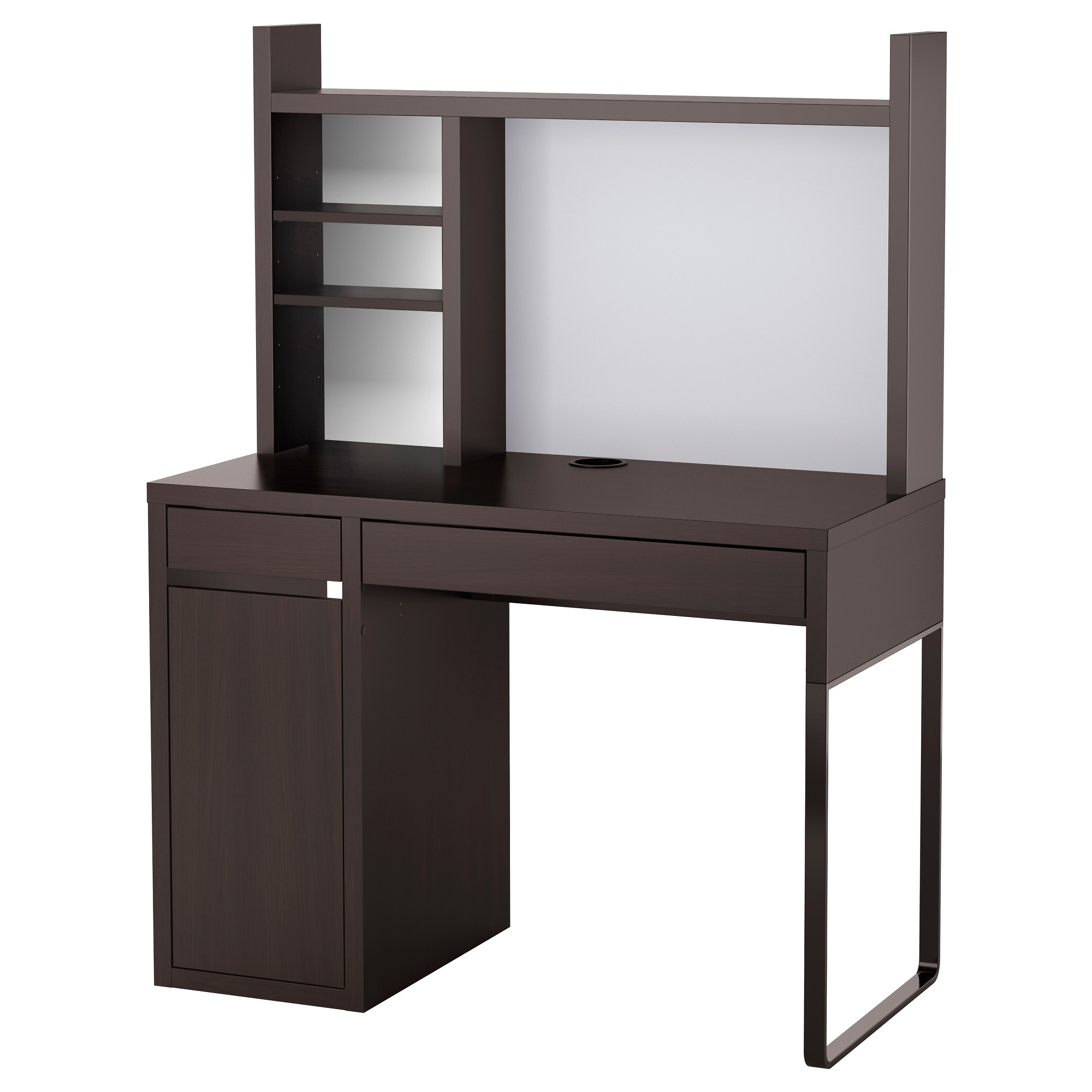 computer desk micke computer work station, black-brown width: 41 3/8  GEVMMUY