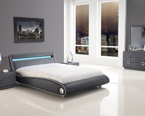 contemporary bedroom furniture exclusive leather platform bedroom sets feat. light - bedroom furniture sets CYQWMSA
