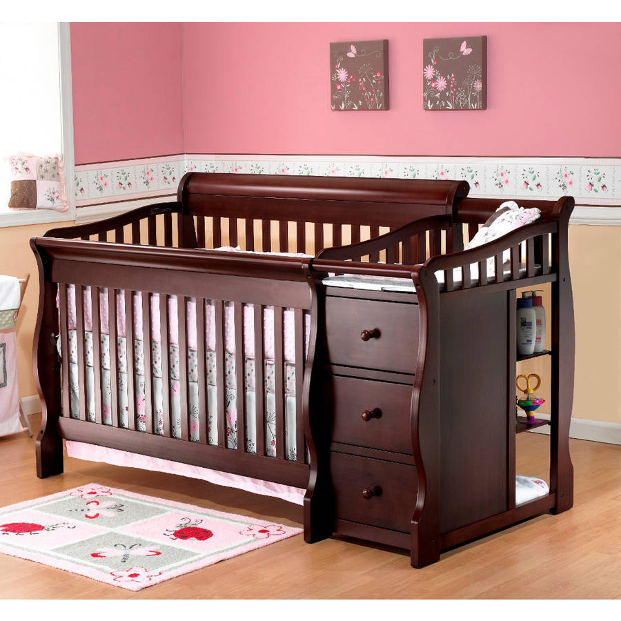 convertible cribs sorelle tuscany 4-in-1 convertible crib and changing table espresso BNWBVYD
