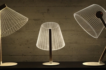 cool lamps the new bulbing lamp collection uses lampshades that are really just 2d MTGHSWP