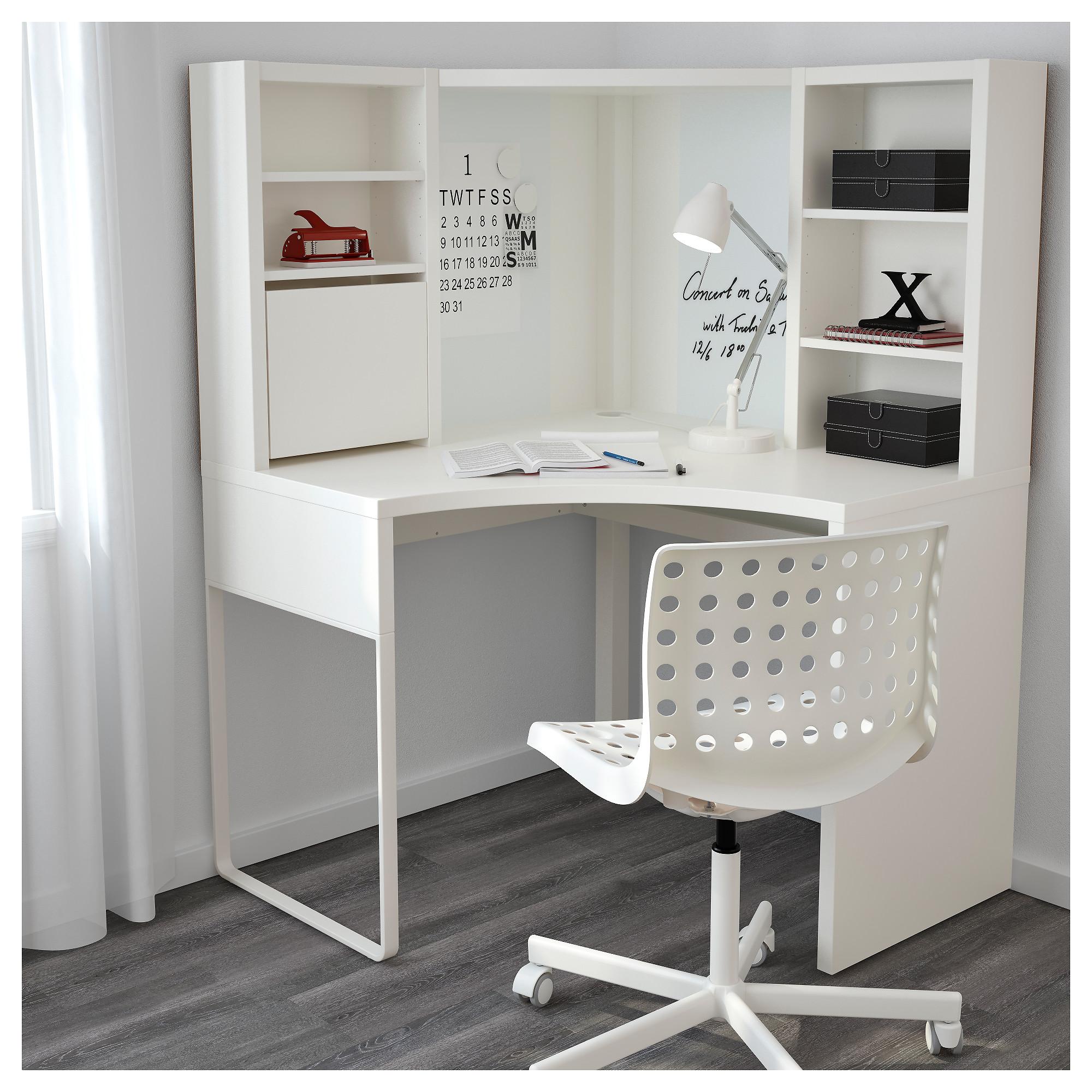 corner desk micke corner workstation - white - ikea MLKKJGF