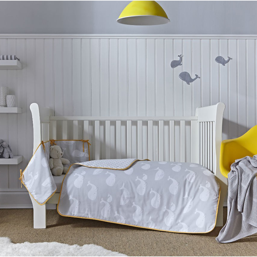 cot bedding clair de lune whales cot bed quilt and bumper set YBOHEDH
