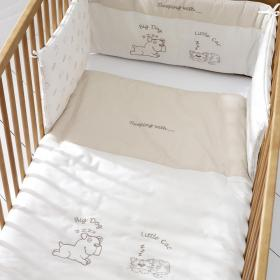 cot bedding saplings big dog u0026 little cat cot bumper set HMQXFBH