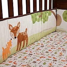 crib bumpers image of lambs u0026 ivy® woodland tales 4-piece crib bumper UCQHFON