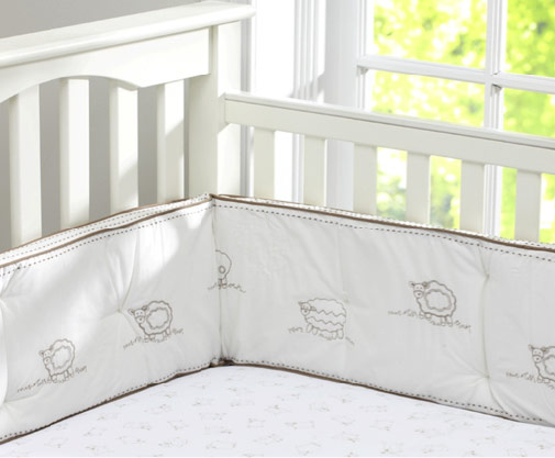 crib bumpers pottery barn kids sweet lambie crib bumper NBUVBRC