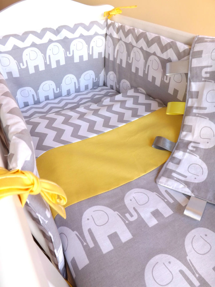 crib or cot or cot bedding set , grey elephant zig-zag 100%cotton HPUVZCC
