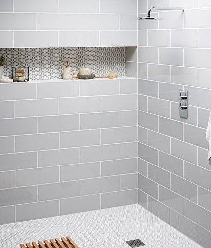 devon metro flat arctic grey gloss subway kitchen bathroom wall tiles 10 x YAYIHSC