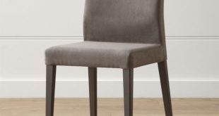dining chairs monterey charcoal dining chair | crate and barrel EFAVHZY