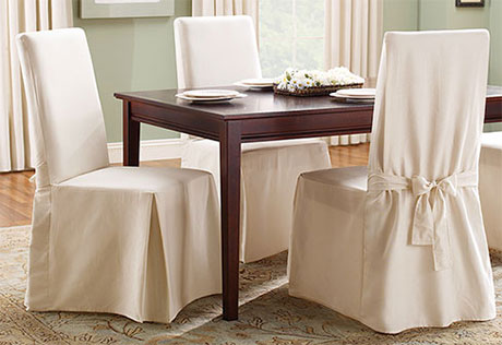 dining room chair covers crisp, pure cotton. LIBRVPV
