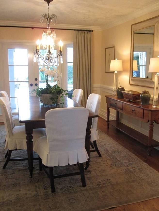 dining room chair covers slipcovers - dining room skirt example more ZEQQEWW