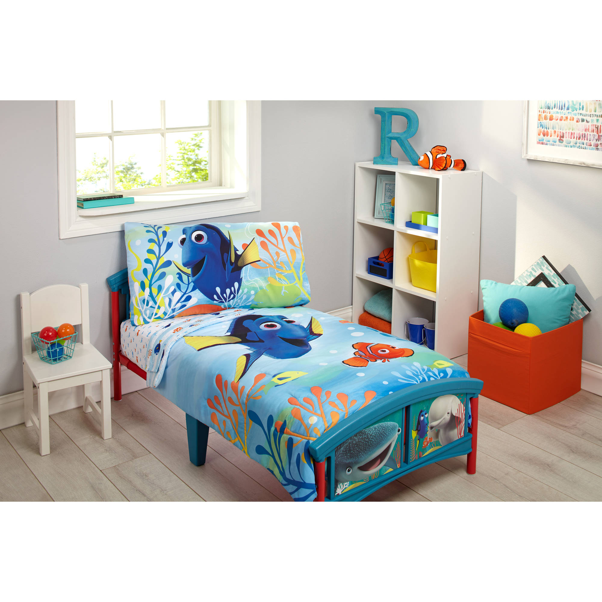 disney finding dory 4-piece toddler bedding set - walmart.com OFHATRV