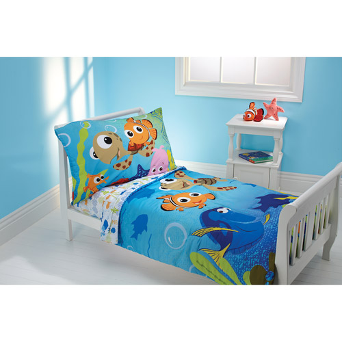 disney nemo 3-piece toddler bedding set with bonus matching pillow case HZBUROO
