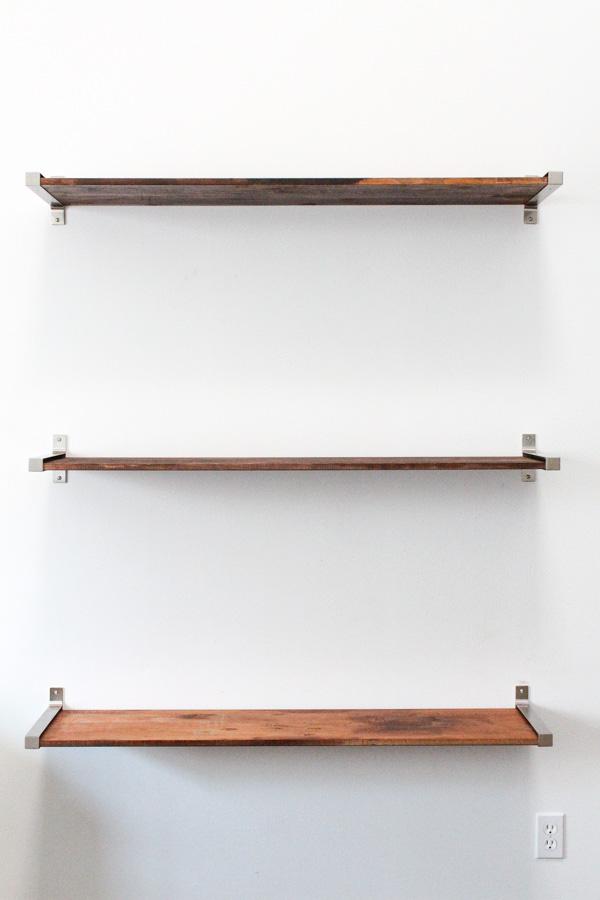 diy ikea hack distressed wooden shelves - sugar u0026 cloth - diy - WMHNRBQ