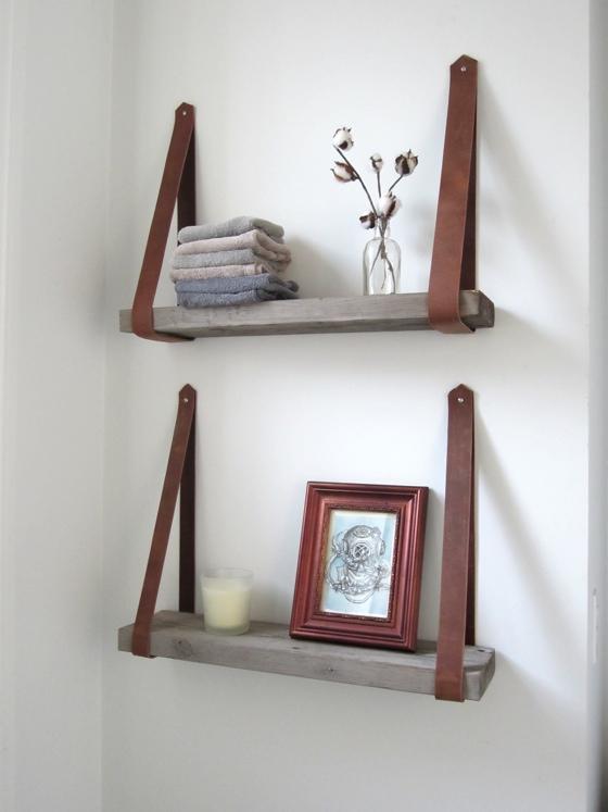 diy shelves diy decorative shelving. leathershelve21 HOLHAGF