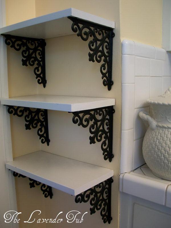 diy shelves diy elegant shelves with brackets from hobby lobby and a piece of wood EFXLDTF