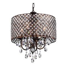 edvivi - billie crystal chandelier, copper - chandeliers HHNJYCW
