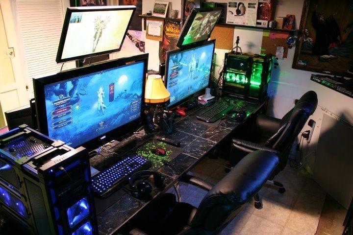 elegant gaming computer desk setup innovative gaming computer desk setup  top home USMOOML